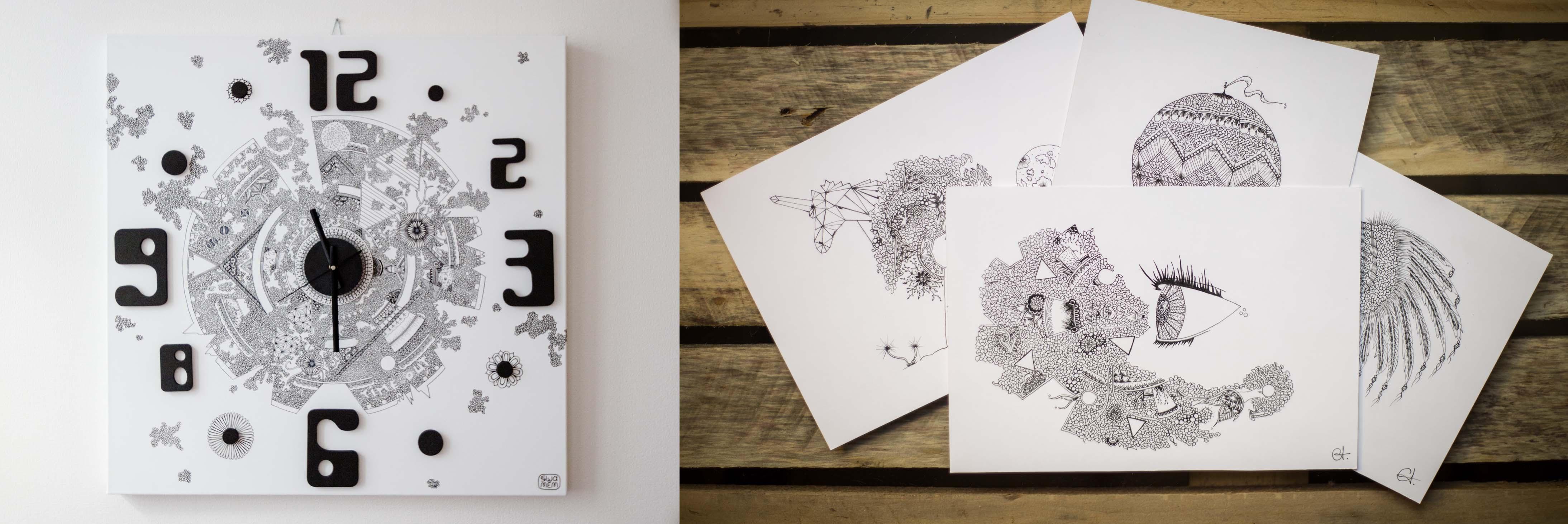 swamem-art-atelier-tableau-horloge-artisanat-carte-postale-faire-part-voeux