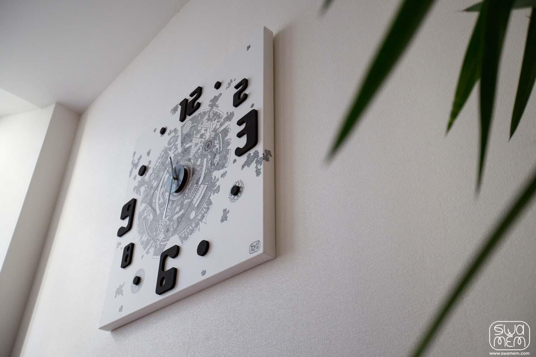 toile-horloge-objet-personnalisee-cadeaux-art-mandala-swamem